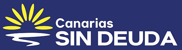 Canarias sin deuda logo sticker